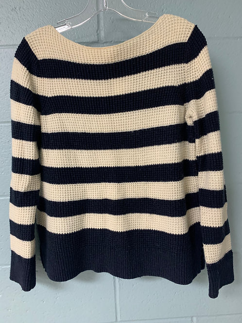 Blue and White Striped Gap Sweater (m)