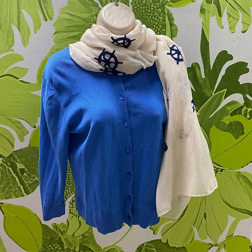 Beautiful Summer Blue Loft Cardigan Sweater (S)