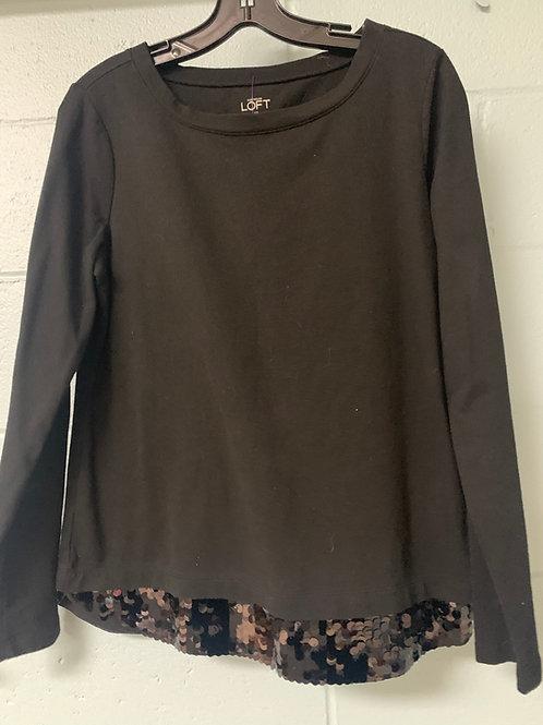 Black LOFT Sweatshirt with Sequined Details (m)