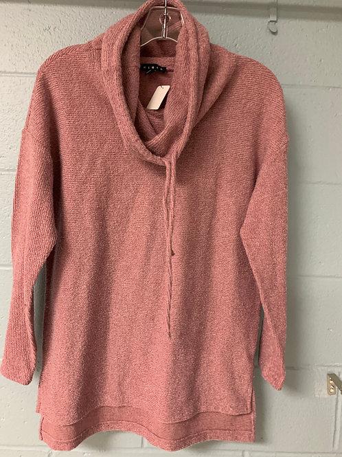 Pink Turtleneck Tribal Sweater (s)