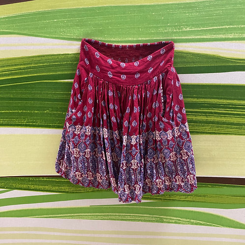 Red Bohemian skirt (S)