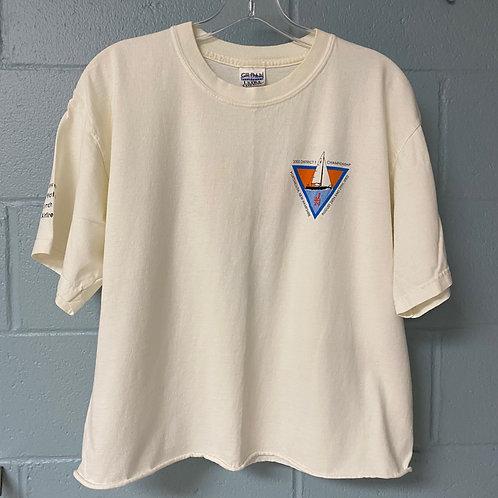 Graphic Sailing T-shirt Cropped Hem (L)