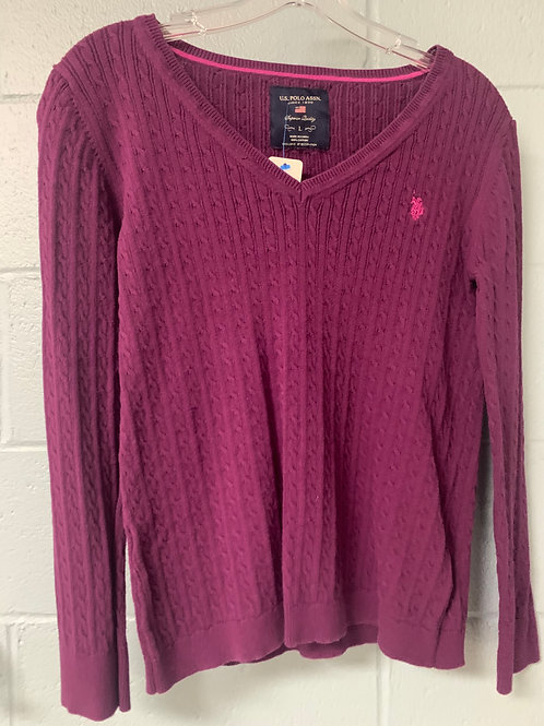 Purple U.S. Polo Vneck Sweater (L)