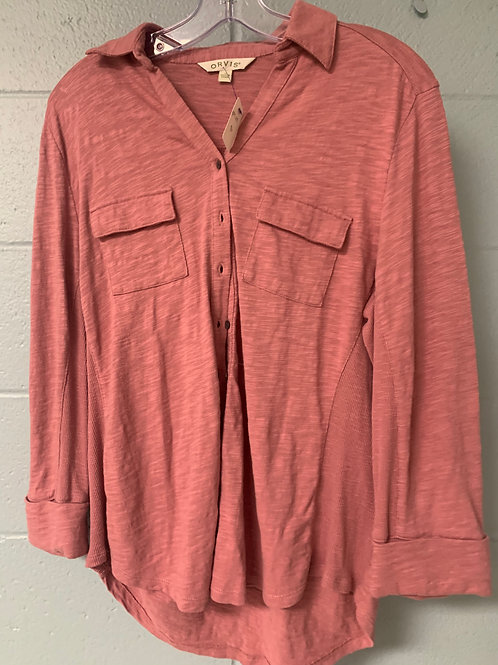 Pink Orvis Button Down Shirt (m)