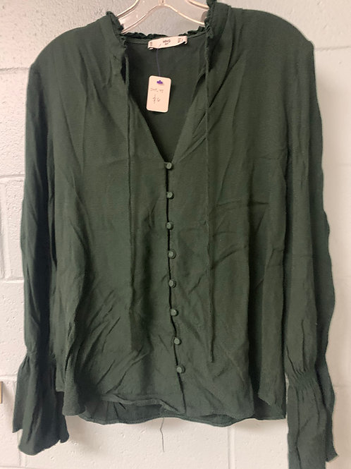 MNG Dark Green Cardigan Sweater (L)