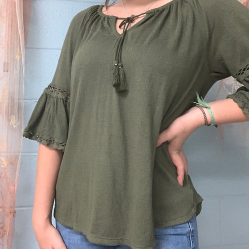 Old Navy Green Blouse (s)