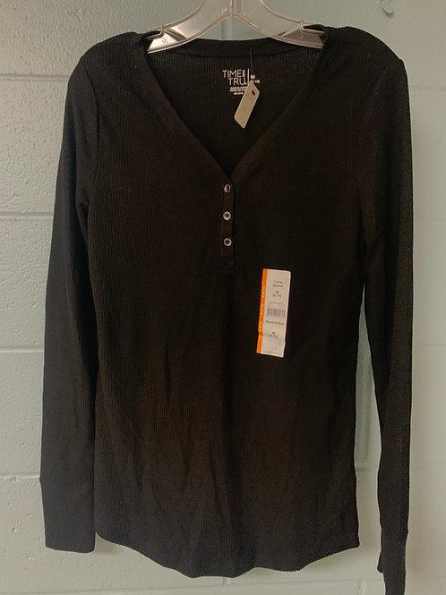 Black Time and Tru Knit Shirt (m)
