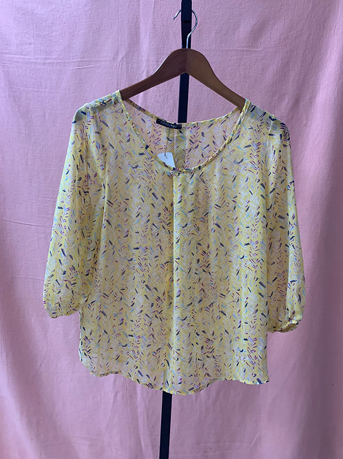 PaperMoon Sheer Yellow Blouse (L)
