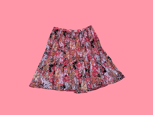 Christopher Banks Floral Panel Skirt (L)