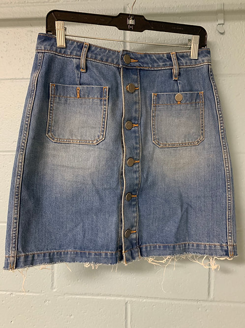 LOFT Jean Button Up Skirt (8)