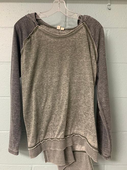 Grey Oversized Other Fellow Hooded Sweatshirt (l)
