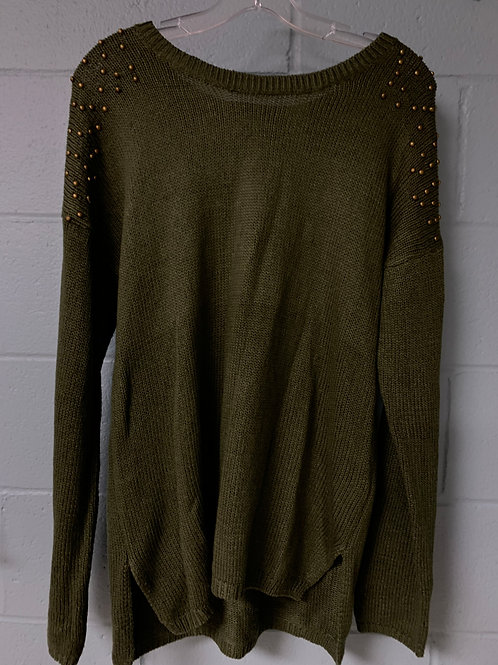 Dark Green Charlotte Russe Sweater (m)