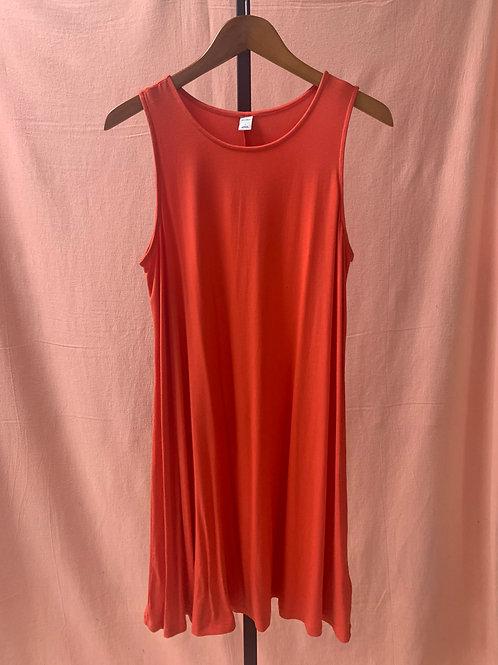 Old Navy Orange A-Line Dress (L)