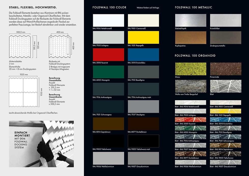 Farbkarte - 3D Wandverkleidungen