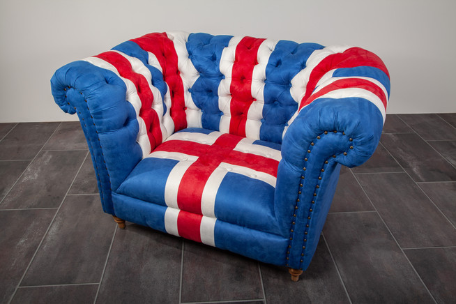 FAUTEUIL CHESTERFIELD UNION JACK