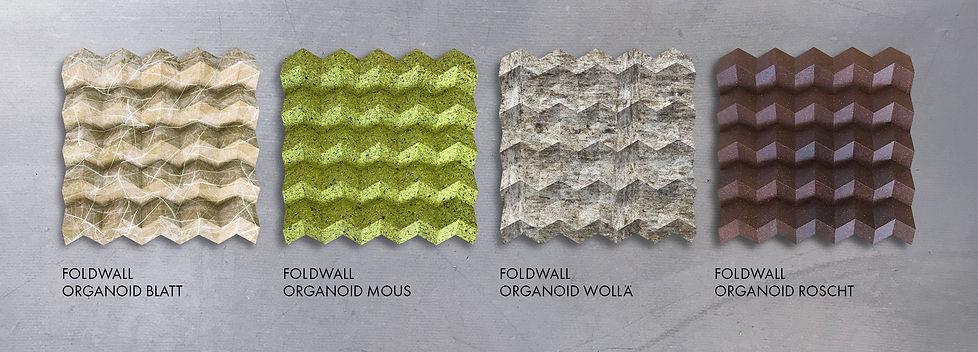 Organoid Oberflächen, Wandverkleidungen