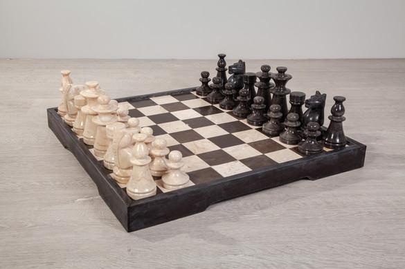 Schachbrett aus Marmor