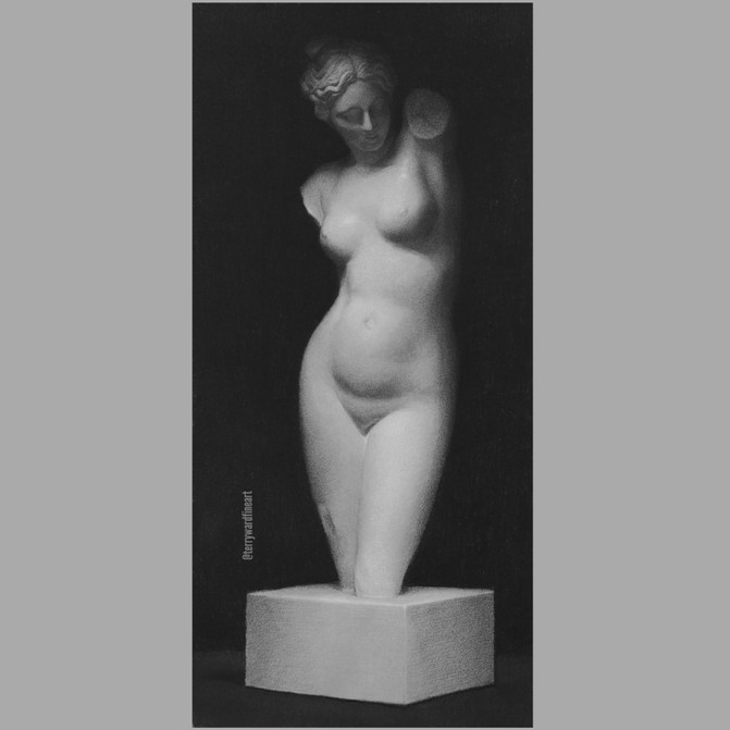 Venus on a pedestal
