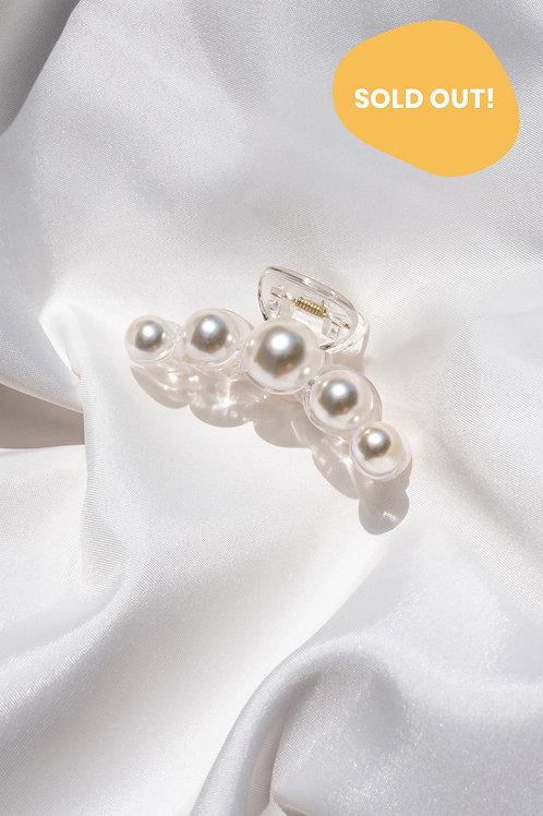 Big Pearl Claw Hair Clip