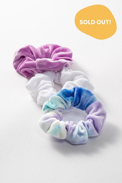 Peace Velvet Hair Scrunchie Set