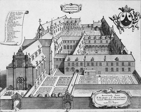 Klooster van de geschoeide Karmelieten aan de Merodestraat.