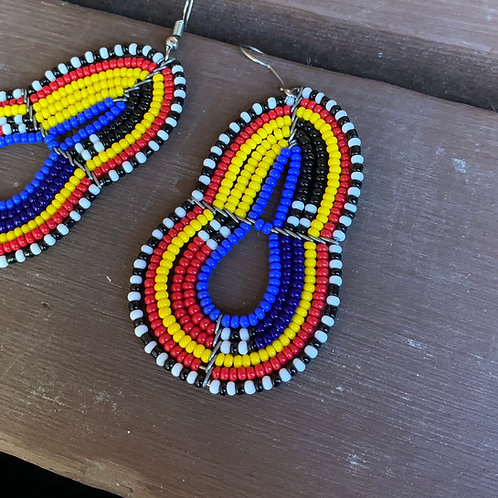 Multicolored Beaded Earrings #3