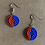 Thumbnail: Small Red and Blue Beaded Earrings