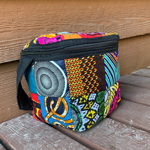 Small Patchwork Lunchbox /Cosmetic Bag #1