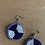 Thumbnail: Navy and White Beaded Earrings