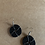 Thumbnail: Small Black Beaded Earrings