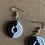 Thumbnail: Small Black and White Beaded Earrings