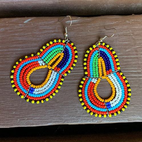 Multicolor Beaded Earrings #1