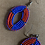 Thumbnail: Red and Blue Beaded Earrings