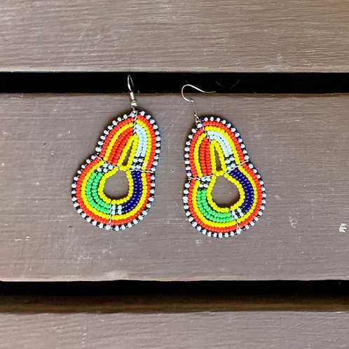 Multicolored Beaded Earrings #2