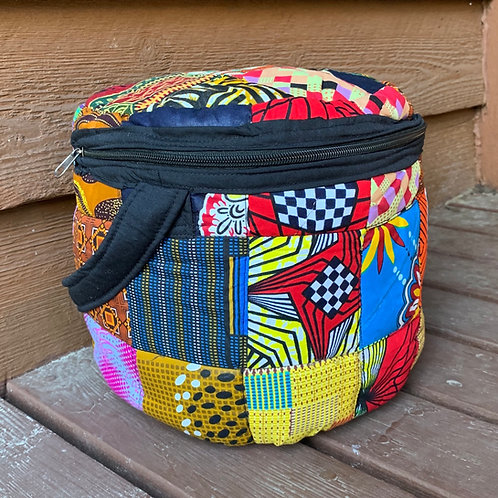 Large Patchwork Lunchbox/Cosmetic Bag #1