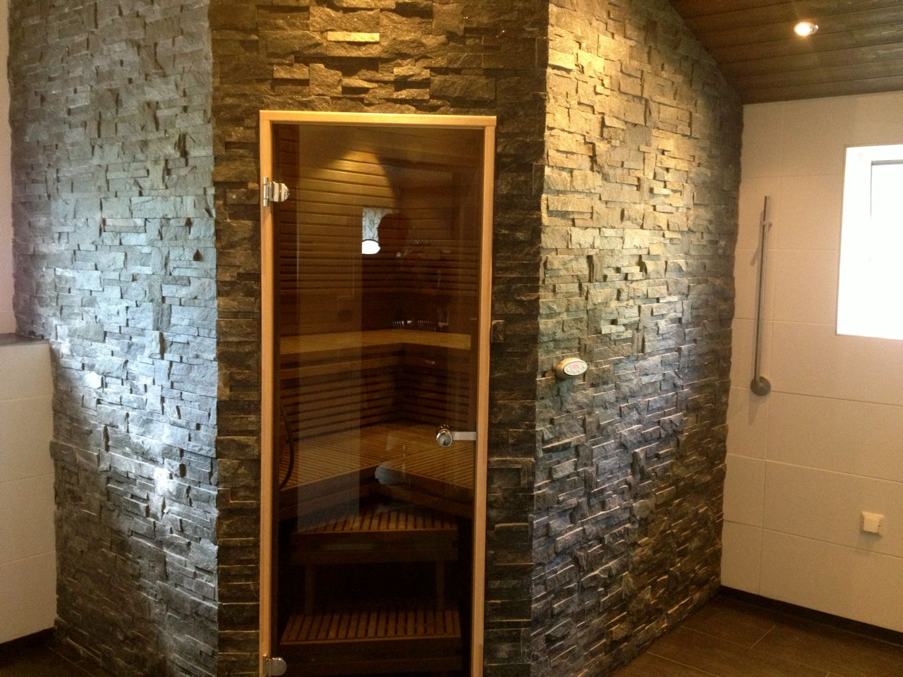 STONE COVERED SAUNA