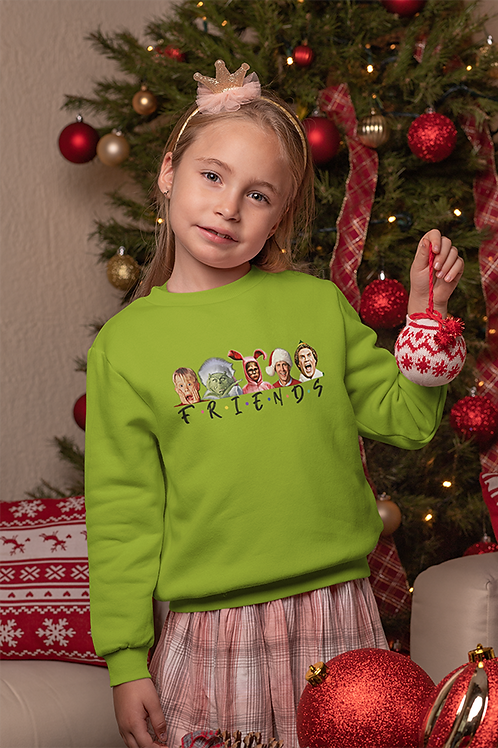 Holiday Friends Kids Crewneck