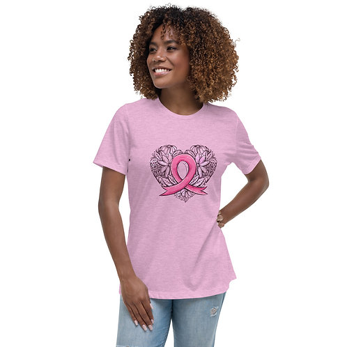Breast Cancer Heart Women's Relaxed Tee