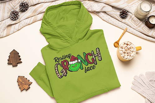 Resting Grinch Face Hoodie