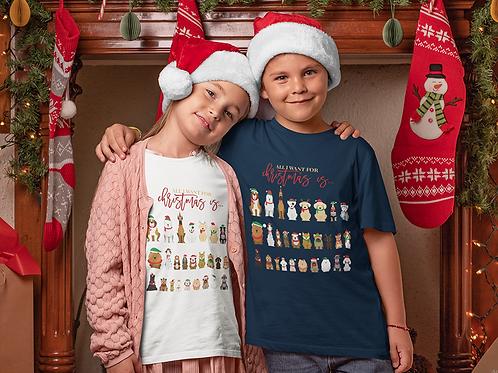 Dog Christmas Tee | Kids