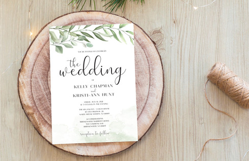 Greenery Wedding Invite