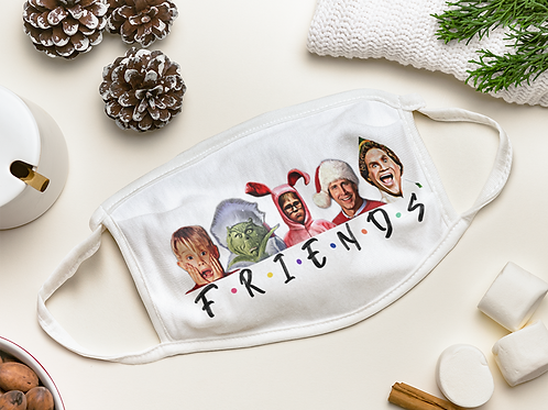 Holiday Friends Face Mask