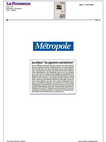 11/04/21 - LA PROVENCE Métropole