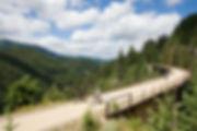 Route of the hiawatha, idaho building, wallace, cycling, summer