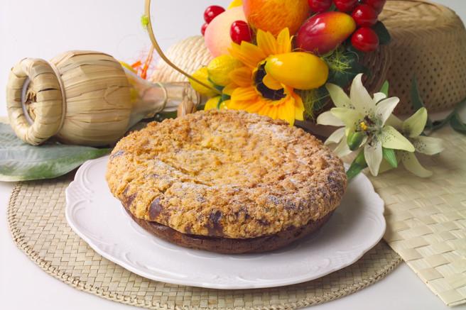 Пирог творожный с маком