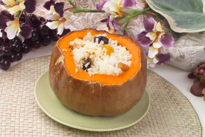 Сладкий рис в тыкве