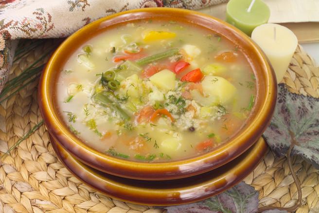 Суп овощной с овсянкой