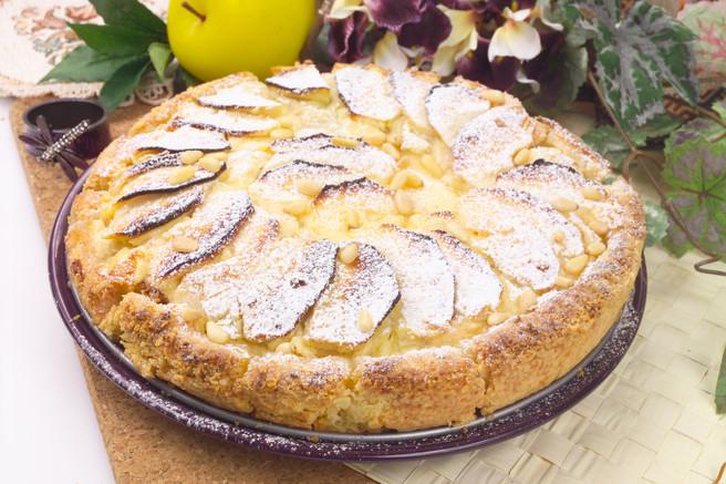 Яблочный пирог с ревенём
