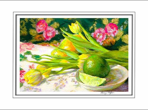 FA00107 Papaya, Lime and Tulips