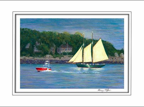 FA00133 Last Light on the Sail